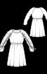 Сукня приталеного крою з призбореними рукавами - фото 3