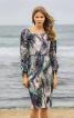 Сукня приталеного крою з призбореними рукавами - фото 1