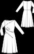 Платье трикотажное с драпировками - фото 3