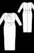 Сукня-футляр з мереживними рукавами - фото 3