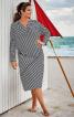 Сукня трикотажна асиметричного крою - фото 1