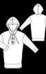 Сукня міні трикотажна з капюшоном - фото 3