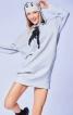 Сукня міні трикотажна з капюшоном - фото 1