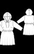 Сукня трикотажна з куліскою на талії і капюшоном - фото 3