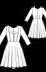 Сукня з ліфом-корсажем і вирізом-сердечком - фото 3