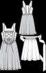 Сукня з пишною спідницею і фартух - фото 3
