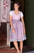 Сукня з широким вирізом горловини і фартух - фото 1