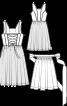 Сукня з широким вирізом горловини і фартух - фото 3