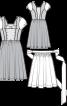 Сукня з імітацією блузки і фартух - фото 3