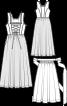 Сукня довга з вузьким ліфом і фартух  - фото 3