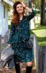 Сукня відрізна розкльошеного крою з воланами - фото 1