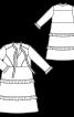 Сукня відрізна розкльошеного крою з воланами - фото 3