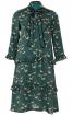 Сукня відрізна розкльошеного крою з воланами - фото 2