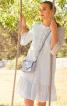 Сукня А-силуету з рукавами 3/4 і оборками - фото 1