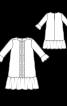 Сукня А-силуету з рукавами 3/4 і оборками - фото 3