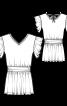 Сукня міні із заниженою талією і оборками - фото 3