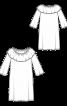 Платье с оборкой в стиле кармен - фото 3