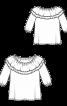 Блузка з оборками в стилі кармен - фото 3