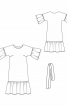 Сукня міді з пишними оборками - фото 3