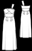 Сукня максі з однією бретеллю - фото 3