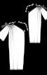 Сукня асиметричного крою на одне плече - фото 3