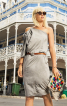 Сукня асиметричного крою на одне плече - фото 4
