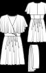 Сукня міні з воланами і широким поясом - фото 3