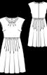Сукня відрізна з приспущеними плечима - фото 3