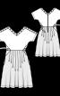 Сукня з пишною спідницею і V-подібними вирізами - фото 3