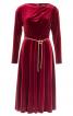 Сукня міді із застібкою на плечі - фото 2