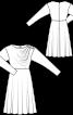 Сукня міді із застібкою на плечі - фото 3