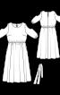 Сукня максі з вирізами на рукавах - фото 3