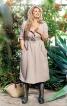 Сукня відрізна по талії з наскрізною застібкою - фото 1