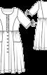 Сукня відрізна по талії з наскрізною застібкою - фото 3