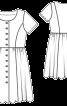 Сукня з рельєфними швами і пишною спідницею - фото 3