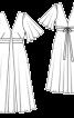 Сукня з пишними рукавами і глибоким V-подібним вирізом - фото 3