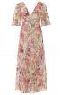 Сукня з пишними рукавами і глибоким V-подібним вирізом - фото 2