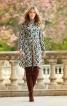 Сукня з коміром-гольф і пишною спідницею - фото 1
