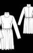 Сукня з коміром-гольф і пишною спідницею - фото 3