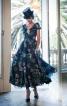 Сукня з пишною спідницею і широким коміром - фото 1