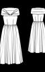 Сукня з пишною спідницею і широким коміром - фото 2