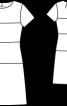 Сукня-футляр з горизонтальними швами - фото 3