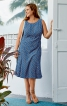 Сукня приталена з рельєфними швами - фото 1