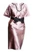 Сукня прямого крою з рукавами кімоно - фото 2