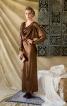 Довга сукня з драпіровкою на переді - фото 1