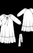 Сукня широкого крою з рукавами реглан - фото 3
