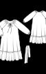 Сукня широкого крою з об'ємними рукавами - фото 3