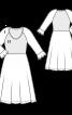 Сукня відрізна з ефектом три в одному - фото 3