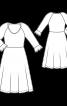 Сукня трикотажна з воланами на рукавах - фото 3