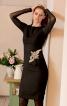 Сукня приталеного крою з рукавами реглан - фото 1